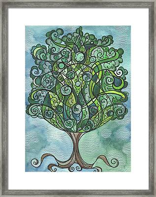 Swirly Tree Framed Print