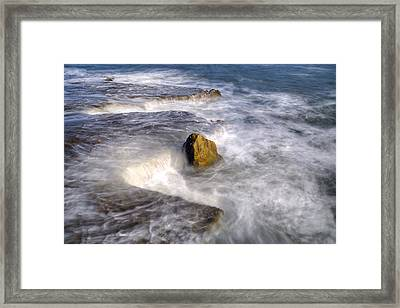 Swirly Water Framed Print