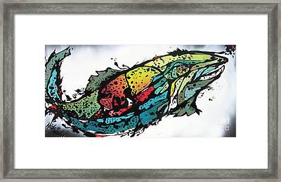 Swish Framed Print by Nicole Gaitan