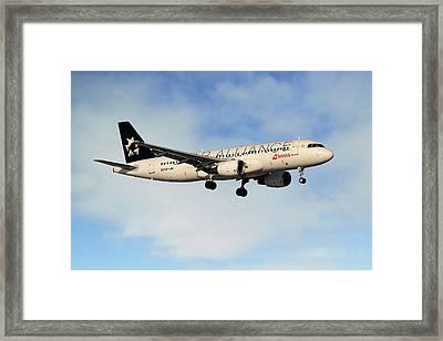 Swiss Airbus A320-214 Framed Print