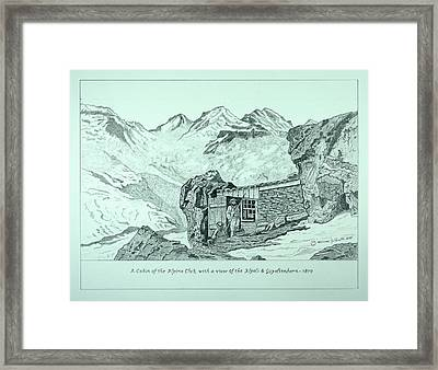 Swiss Alpine Cabin Framed Print