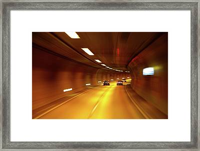 Framed Print featuring the photograph Swiss Alpine Tunnel by KG Thienemann