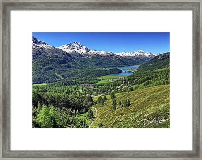 Swiss Alps And Lake Framed Print