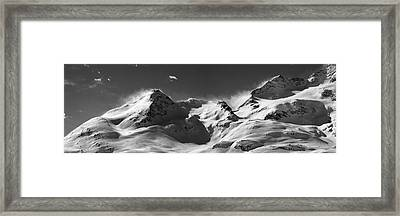 Framed Print featuring the photograph Swiss Alps by Marc Huebner