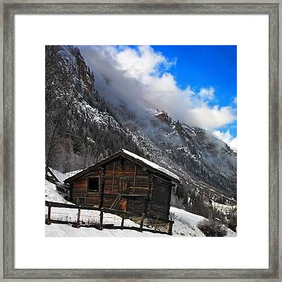 Swiss Barn Framed Print