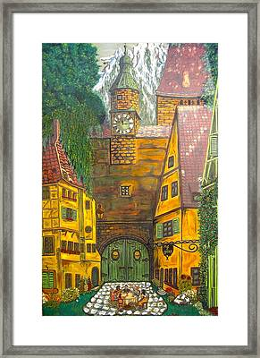 Swiss Birthday Party Framed Print by V Boge