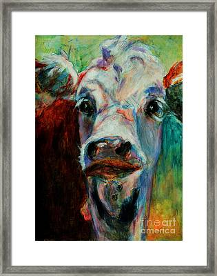 Swiss Cow - 1 Framed Print by David  Van Hulst