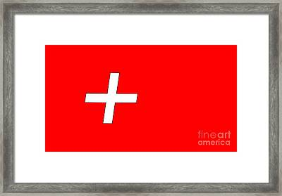 Swiss Flag Framed Print by Frederick Holiday