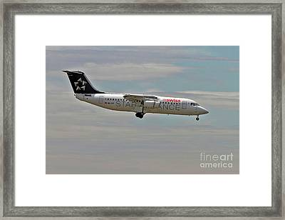 Swiss Global Air Lines British Aerospace Avro Rj100 Framed Print