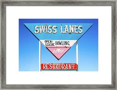 Swiss Lanes Framed Print by Todd Klassy