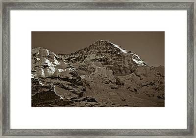 Swiss Mountain Landscape Framed Print