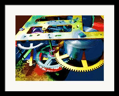 Swiss Movement Mixed Media Framed Prints