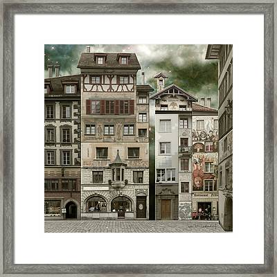 Swiss Reconstruction Framed Print by Joan Ladendorf