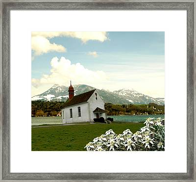 Swiss Spring Version 3 Framed Print by Chuck Shafer