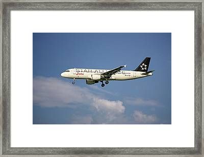 Swiss Star Alliance Livery Airbus A320-214 8 Framed Print