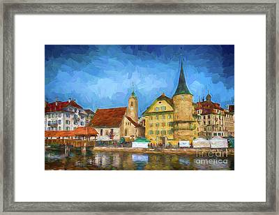 Swiss Town Framed Print