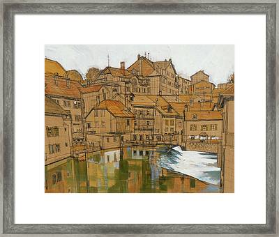 Swiss Trout Stream Framed Print by Rich Richardson