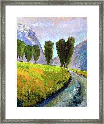 Swiss Valley Framed Print