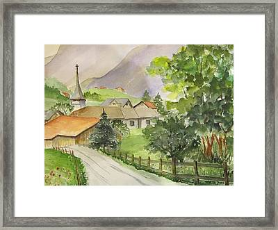 Swiss Village Framed Print by Heidi Patricio-Nadon