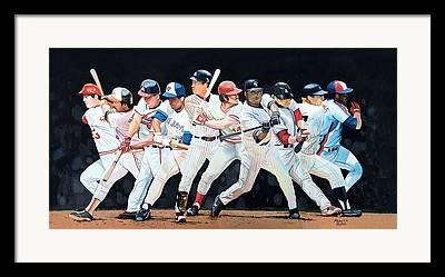 Lance Berkman Framed Prints