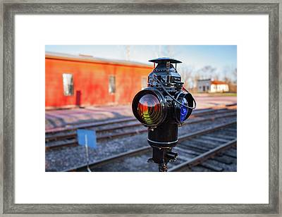 Switch Lamp Framed Print by Todd Klassy