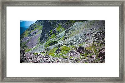 Switchbacks Below Comeau Pass Framed Print