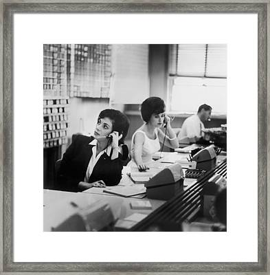 Switchboard Framed Print by Archive Photos