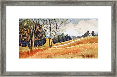 Switchboard Rd Framed Print by Katherine Miller