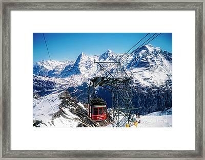 Switzerland Alps Schilthorn Bahn Cable Car  Framed Print