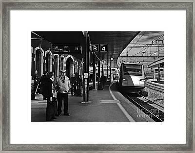 Switzerland - Arth-goldau Station Framed Print by Carlos Alkmin