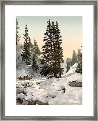 Switzerland: Davos, C1895 Framed Print