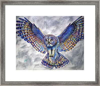 Swoop Framed Print by Teshia Art