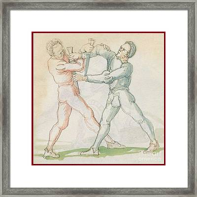 Sword Fighting Manual  Framed Print by MotionAge Designs