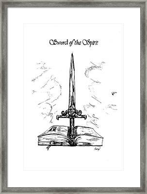 Sword Of The Spirit Framed Print by Maryn Crawford