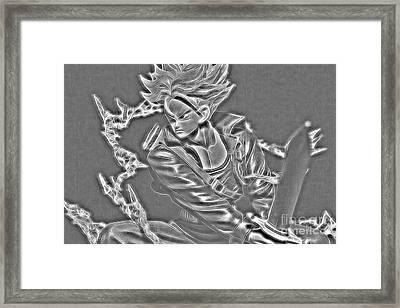 Framed Print featuring the digital art Sword Rush Trunks by Ray Shiu