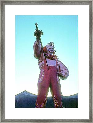 Framed Print featuring the photograph Sword Swallower by Laurie Stewart