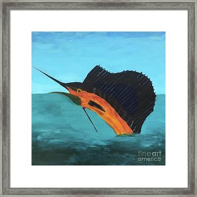 Swordfish Framed Print by Donald J Ryker III
