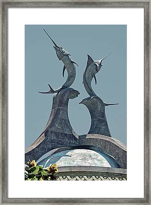 Swordfish Sculpture Framed Print by DigiArt Diaries by Vicky B Fuller