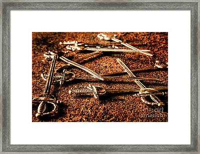 Swords And Knight Fights Framed Print by Jorgo Photography - Wall Art Gallery