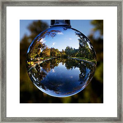 Sycamore Pool Through A Glass Eye Framed Print by Robert Woodward
