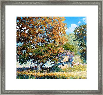 Sycamores With Tallow Framed Print by Kevin Lawrence Leveque