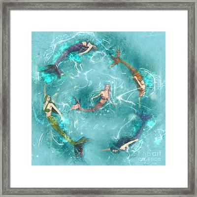 Sychronized Swimming Framed Print