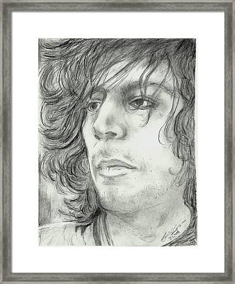 Syd Barrett Framed Print by Alison Hayes