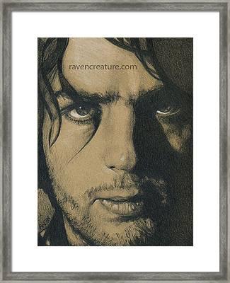 Syd Barrett Of Pink Floyd Framed Print by Raven Creature