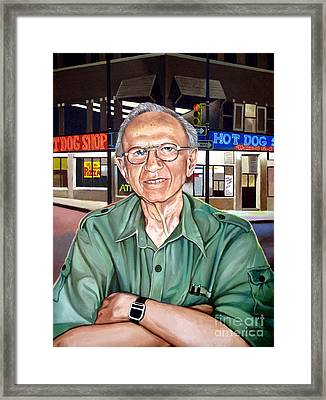 Syd Simon  Framed Print by Christopher Shellhammer