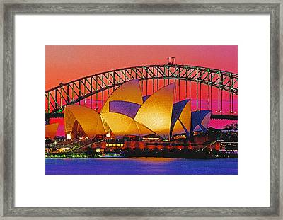 Sydney Architecture Framed Print by Dennis Cox WorldViews