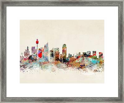 Framed Print featuring the painting Sydney Australia by Bri B