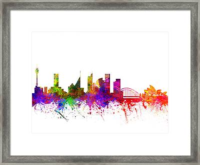 Sydney Australia Cityscape 02 Framed Print by Aged Pixel