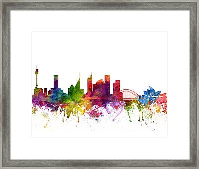 Sydney Australia Cityscape 06 Framed Print by Aged Pixel
