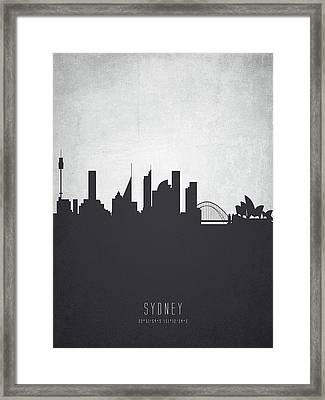 Sydney Australia Cityscape 19 Framed Print